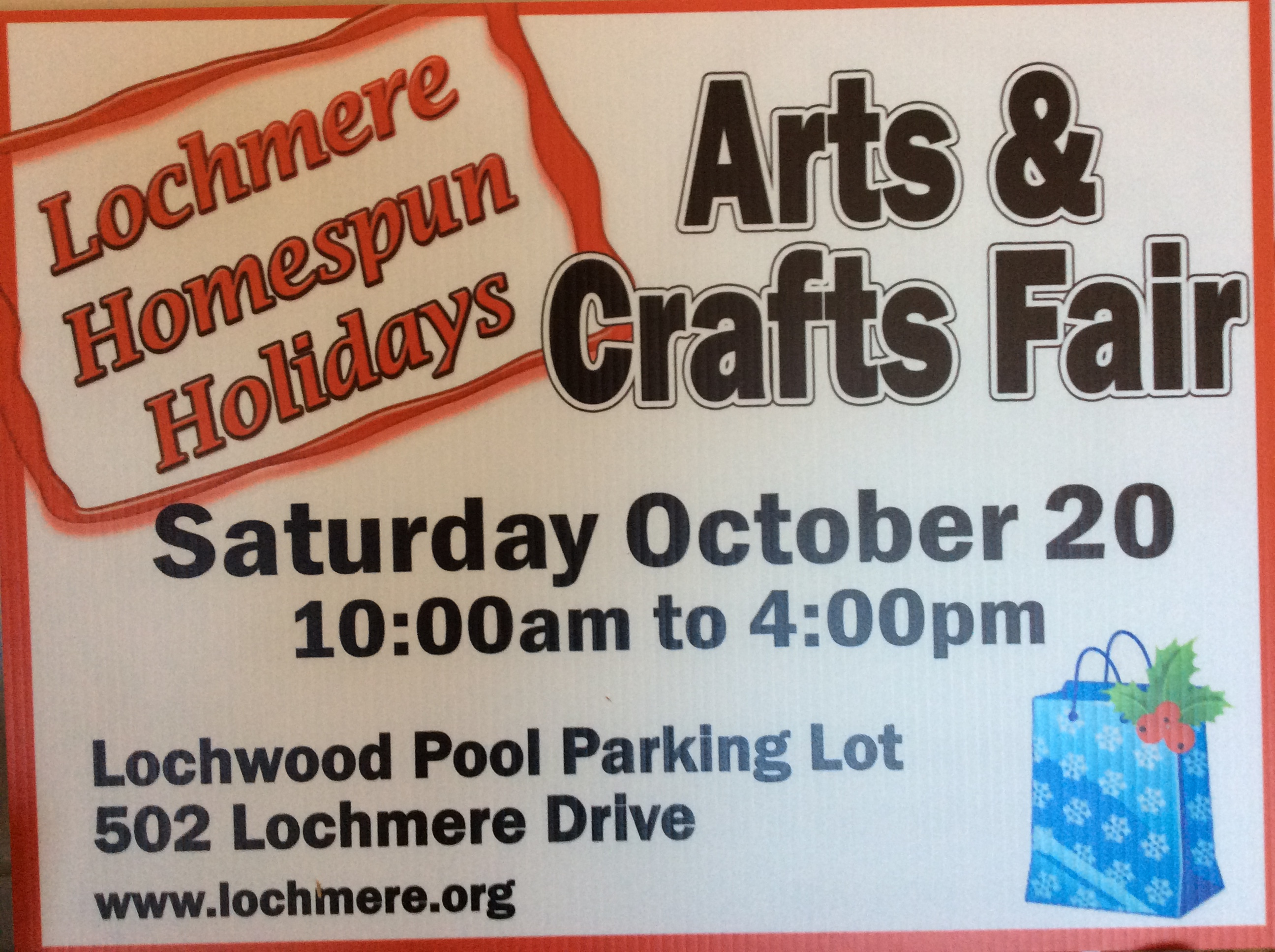 Don't Miss Lochmere's First Home Spun Holiday Arts & Crafts Fair On October 20